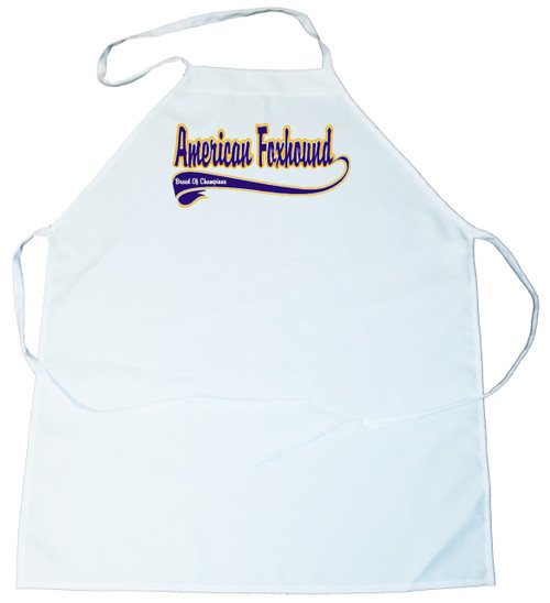 Breed of Champion (Blue) Apron - American Foxhound (100-0002-112)