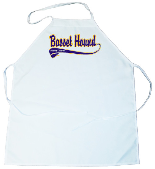 Breed of Champion (Blue) Apron - Basset Hound (100-0002-128)