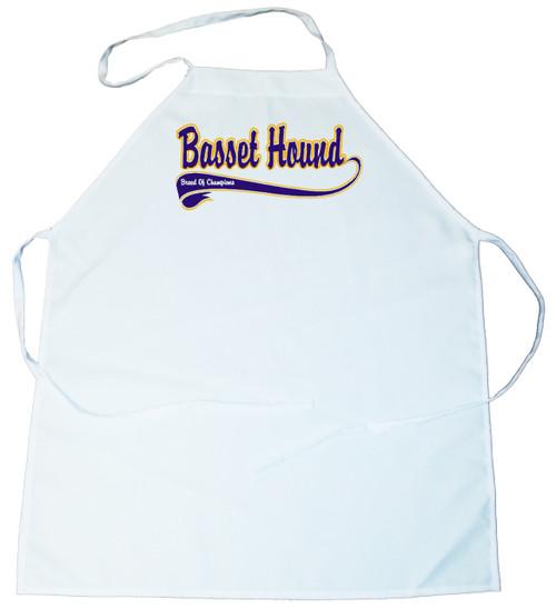 Breed of Champion (Blue) Apron - Basset Hound (100-0002-128)