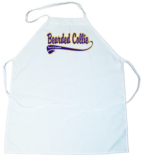 Breed of Champion (Blue) Apron - Bearded Collie (100-0002-132)