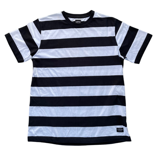 Lee Side Short Sleeve Tee Black and white