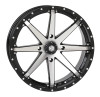 Polaris RZR 20x7 Gloss Black HD10 Wheels by STI Powersports
