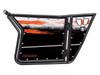 Polaris RZR 570 / 800 / XP 900 Orange And White Door Graphics