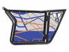 Polaris RZR 570 / 800 / XP 900 Blue Fire Orange Door Graphics by SuperATV
