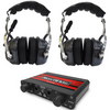 Polaris RZR 2 Person Intercom System with Over The Head Headsets by NavAtlas