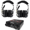 Polaris RZR 2 Person Compact Intercom System with Over The Head Headsets by NavAtlas