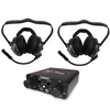 Polaris RZR 2 Person Compact Intercom System with Behind The Head Headsets by NavAtlas