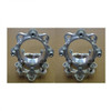 Polaris Four-Two Inch Machined Billet Aluminum Wheel Spacers by Factory UTV