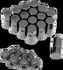 """Polaris RZR 570 / 800 / XP 900 Black 3/8"""" Lug Nut 16 Pack by Moose"""