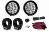 "Polaris RZR 3 Watt 4 Inch Round A-Pillar Light Kit (1.75"" Clamps) By Lazer Star Lights"