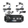 Polaris RZR 2-Place Intercom System with Alpha Audio Helmet Kits by Rugged Radios