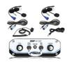 Polaris RZR 2 Place Race Intercom System with Helmet Kits by Rugged Radios