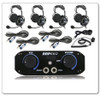 Polaris RZR 4-Place Intercom with Over the Head Ultimate Headsets by Rugged Radios