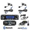 Polaris RZR 2-Place Intercom with 60 Watt Radio and Alpha Audio Helmet Kits by Rugged Radios