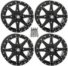 "Polaris RZR 14"" Black Hd10 Atv Wheels/Rims by STI"