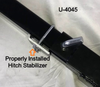 """Polaris RZR 1 1/4"""" Receiver Hitch Spare Tire Mount by Hornet Outdoors"""