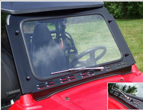 Polaris RZR 570 / 800 / XP 900 Laminated Safety Glass Windshield with Wiper by EMP