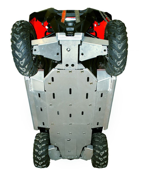 Polaris RZR 570 9-Piece Complete Aluminum Skid Plate Set by Ricochet