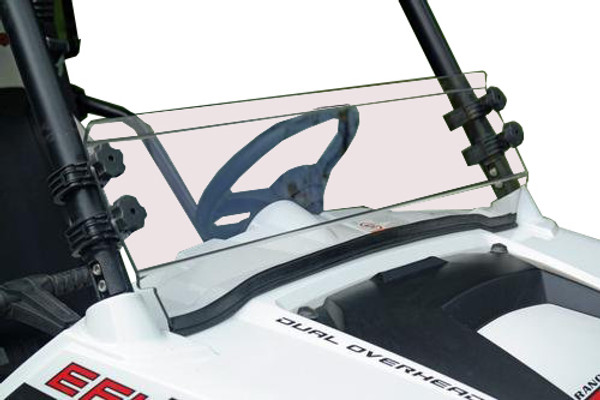 Polaris RZR 570 / 800 / 900 Half Windshield with Flip Clamps (Scratch Resistant) by Spike Powersports