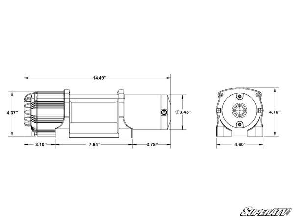 Polaris RZR 4500 Lb. UTV/ATV Winch with Wireless Remote & Synthetic Rope by SuperATV