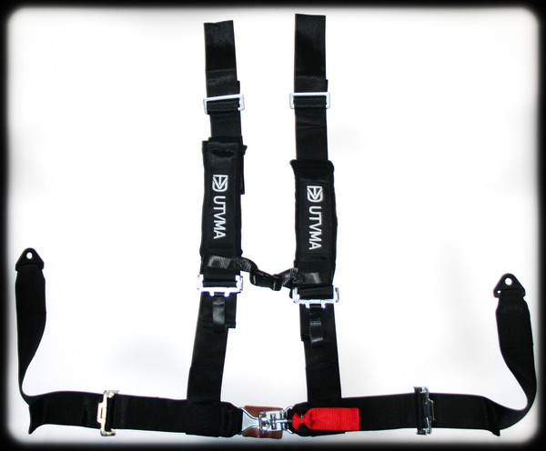"""Polaris RZR 4-Point 3"""" Harness with Off Road Buckle by UTV Mountain"""