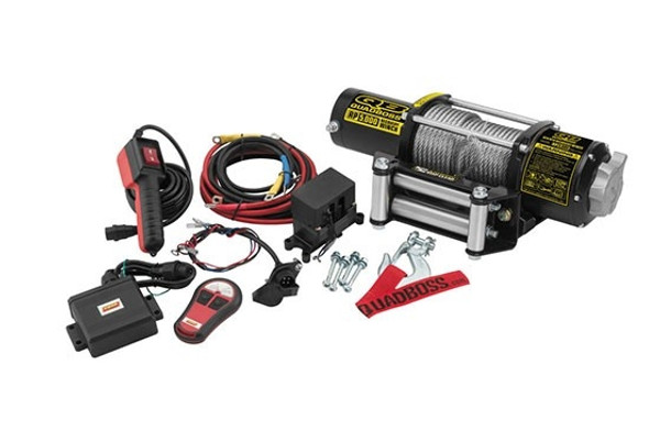 Polaris RZR 5000 lb Winch with Wire Cable by QuadBoss