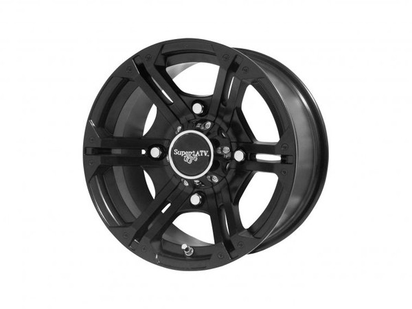 "Polaris RZR 14 Inch Black H-Series Bandit Wheels (3/8"" and 12mm studs) by SuperATV"