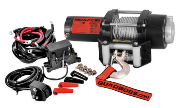 Polaris RZR 2500 lb Winch with Wire Cable by QuadBoss