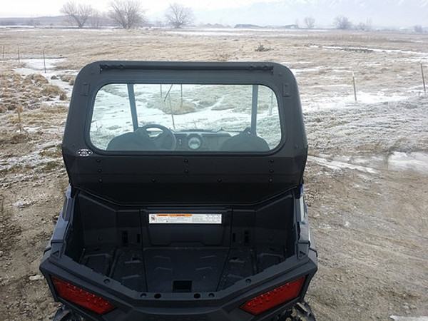 Polaris RZR 570 / 800 / 900 Rear Solid Window (Glass) (DOT Approved) by RyFab