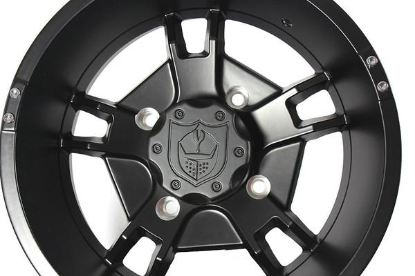 "Polaris RZR 14 x 7"" Black Ryder Wheels by Pro Armor"
