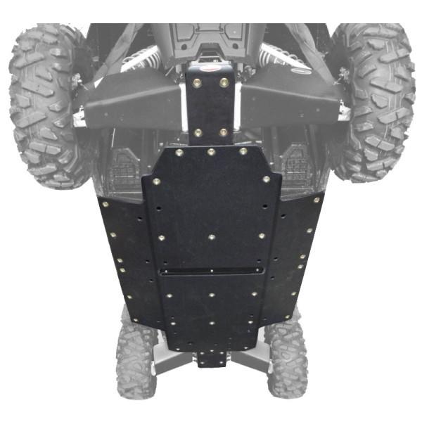 "Polaris RZR 4 800 3/8"" UHMW Full Skid Plate by Factory UTV"