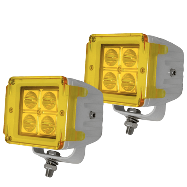 Polaris RZR 3 Inch Street Series LED Cube Light Kit Sold in Pairs by Race Sport Lighting
