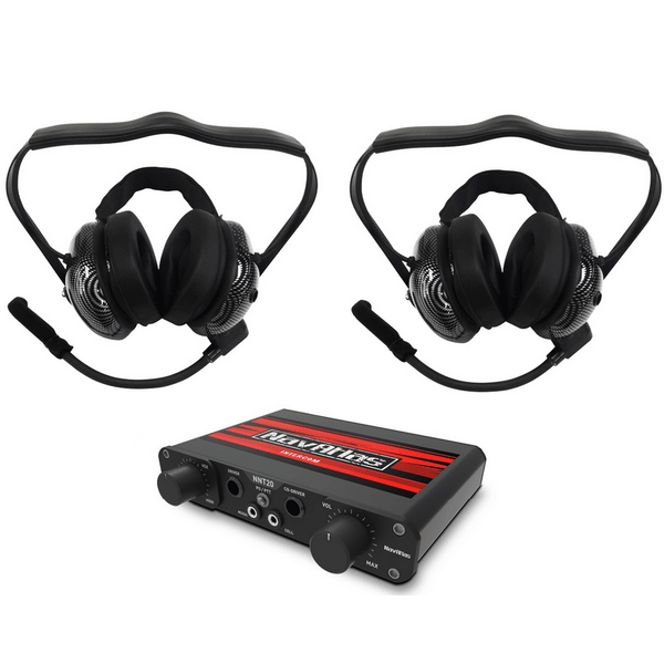 Polaris RZR 2 Person Intercom System with Behind The Head Headsets by NavAtlas