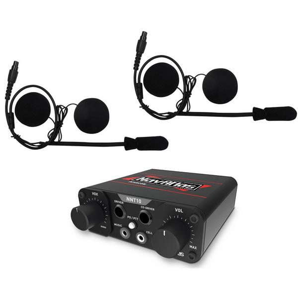 Polaris RZR 2 Person Compact Intercom System with In-Helmet Earphones by NavAtlas