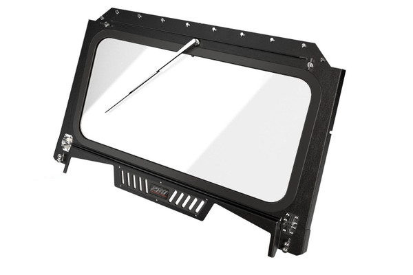 Polaris RZR 1000 Front Folding Windshield with Wiper & Vents by RazorBack Offroad