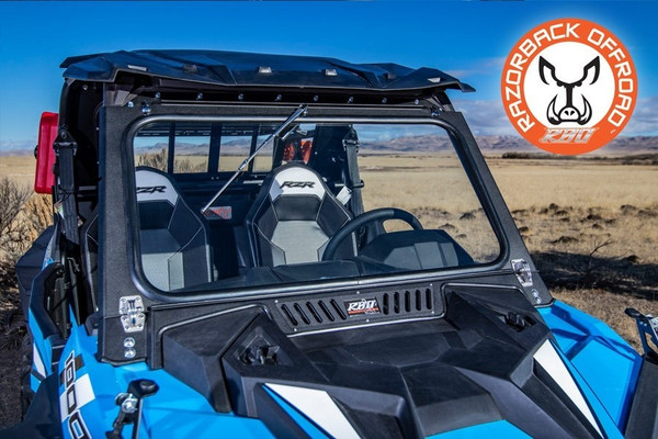 Polaris RZR 1000 Front Folding Windshield with Wiper & Vents (DOT Approved) by RazorBack Offroad
