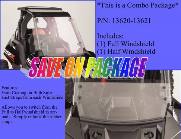 2018 Polaris RS1 Windshield Combo (Full and Half Windshields) By EMP