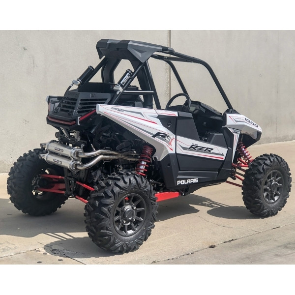 Polaries RZR RS1 Dual Exhaust System Brushed By Trinity Racing