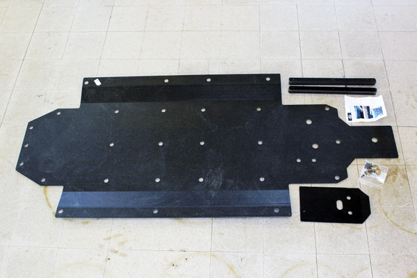 "Polaris RZR 4 800 3/8"" UHMW 1 PC Skid Plate by UTV INC"