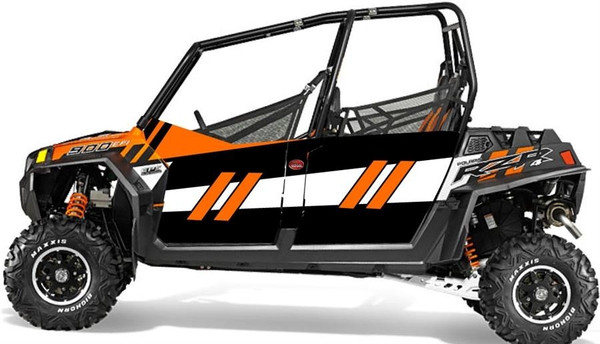 Polaris RZR 4 900 EPS Orange Madness LE GenX Four Door Graphics Kit by Trail Armor
