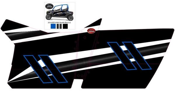 Polaris RZR 4 800 Slimline Four Door Graphics Kit Stealth Black LE by Trail Armor