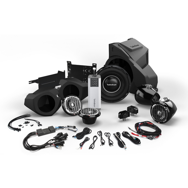 Polaris RZR 400 Watt Stereo, Front and Rear Speaker, and Subwoofer Kit by Rockford