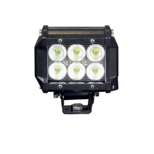 Polaris RZR 4 Inch LED Light Bar Dual Row 18 Watt Spot Defcon Series by Quake LED