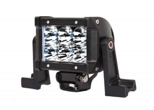 Polaris RZR 4.5 Inch LED Light Bar Dual Row 18 Watt Spot Ultra II Series by Quake LED