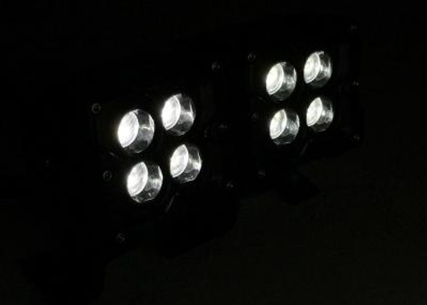 Polaris RZR 3 INCH WORK LIGHT 20 WATT FLOOD RGB ACCENT SEISMIC SERIES QUAD-LOCK/INTERLOCK