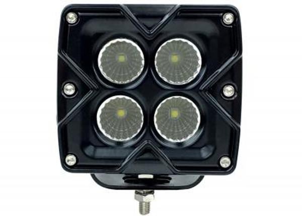 Polaris RZR 3 Inch Work Light Square 40 Watt Flood/Spoot Seismic Series by Quake LED