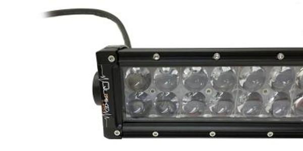 Polaris RZR 22 Inch Curved LED RGB Light Bar Dual Row 120 Watt Spot Ultra Arc Accent Series Quad-Lock/Interlock