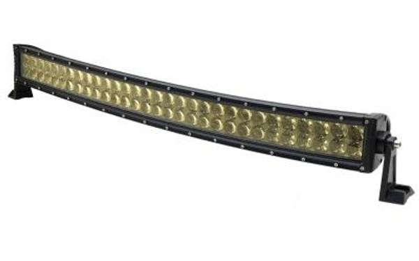 Polaris RZR 32 Inch Curved LED RGB Light Bar Dual Row 180 Watt Spot Ultra Arc Accent Series Quad-Lock/Interlock by Quake LED