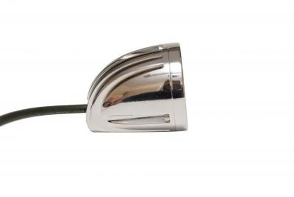 Polaris RZR 2 Inch Work Light Round Polished Chrome 10 Watt Flood Quantum Series