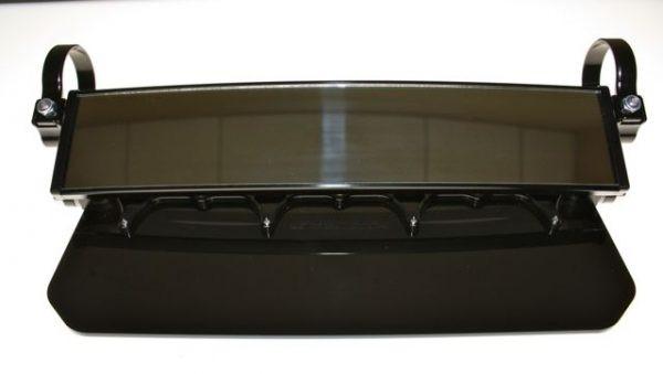 Polaris RZR 12″ Wide Panoramic Rearview Mirror with Folding Sun Visor – Solid Black Shield